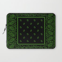 Black and Green Bandana Laptop Sleeve