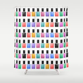 Nail Polish Shower Curtain