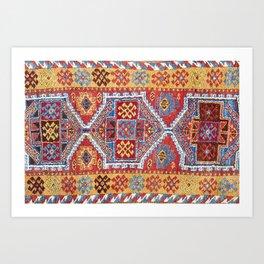 Adiyaman  Antique Turkish Rug Art Print
