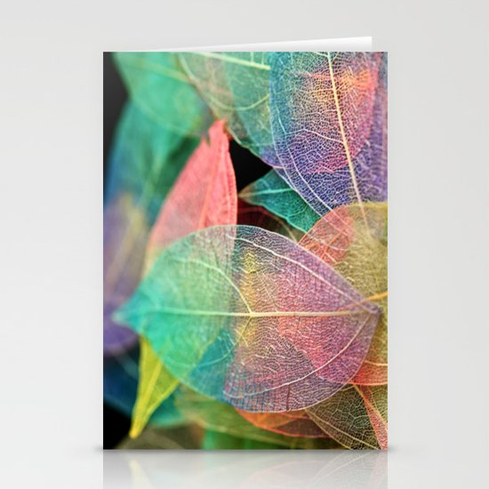 Skeleton Leaves Stationery Cards