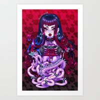 goth Art Prints featuring Goth Penanggalan by Gunkiss