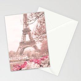 Paris Nursery, White, Eiffel Tower Stationery Cards