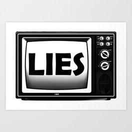 TV lies Fake News Retro Box Television Art Print