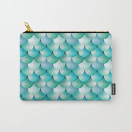 mermaid scales, turquoise shimmer Carry-All Pouch