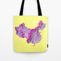 china Tote Bags featuring China by mthbt