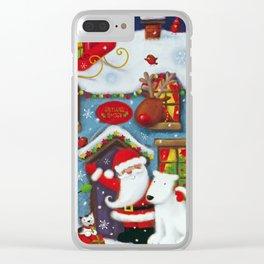 Santa's House Clear iPhone Case