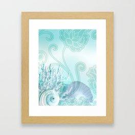 SEASHELL DREAMS | blue Framed Art Print