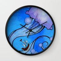 voyage Wall Clocks featuring Voyage by CSNSArt