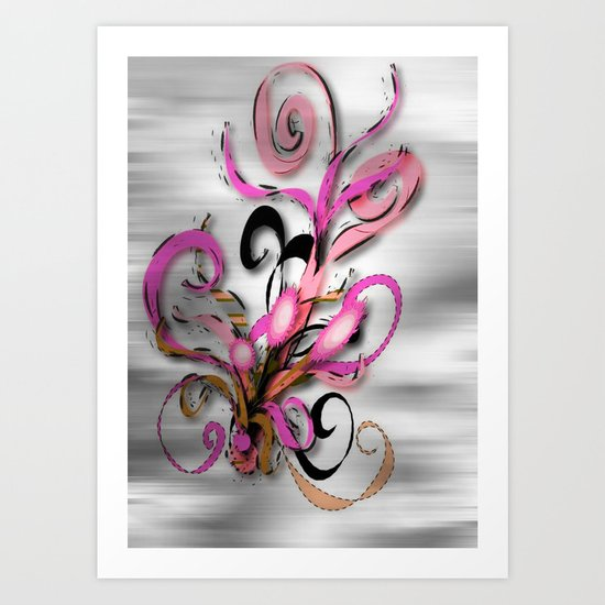 Magic Flowers Art Print