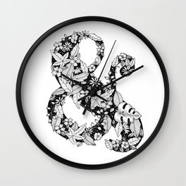 Florals Ampersand Wall Clock