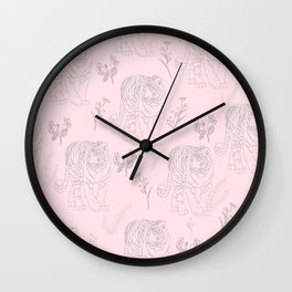 Wildflower Tiger Wall Clock