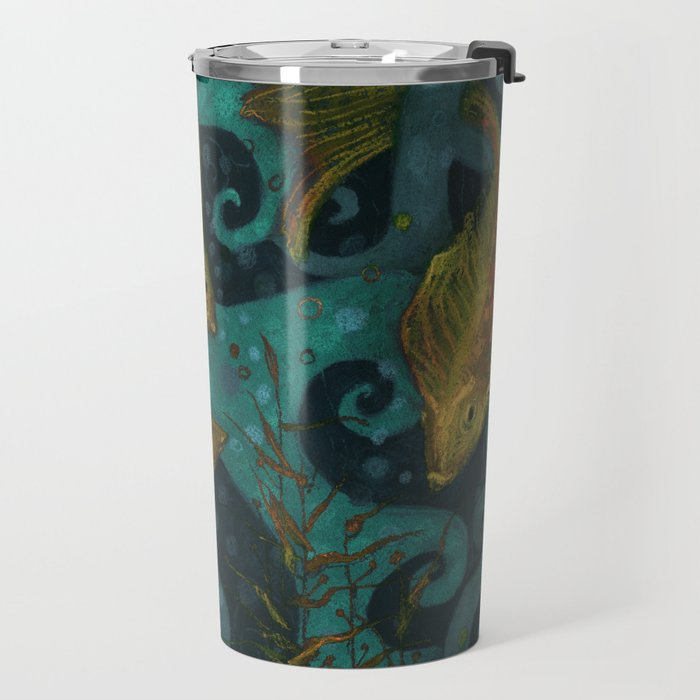 Golden Fishes Travel Mug