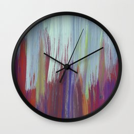 Layers of paint Wall Clock