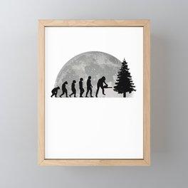 Tree cutter Evolution Moon Lumberjack Foresters Framed Mini Art Print