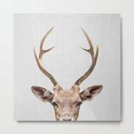 Deer - Colorful Metal Print