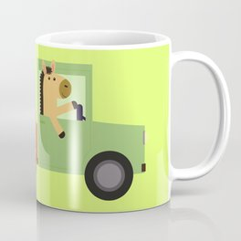 Horse on Truck Coffee Mug