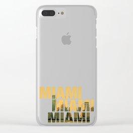 Miami Landscape Clear iPhone Case