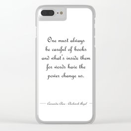Words have the power to change us - Tessa Gray WHITE Clear iPhone Case