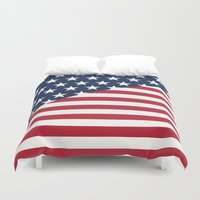 flag Duvet Covers featuring Flag by dani