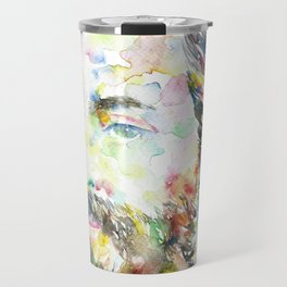 HERMAN MELVILLE - watercolor portrait.1 Travel Mug