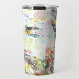 HERMAN MELVILLE - watercolor portrait.1 Travel Mug