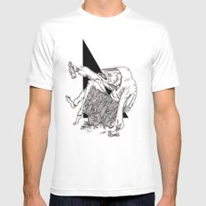 Fish MEDIUM White Mens Fitted Tee