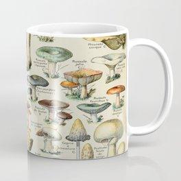 Mushrooms Vintage Scientific Illustration French Language Encyclopedia Lithographs Educational Coffee Mug