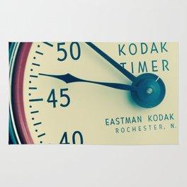 Keeping Time With Kodak #Vintage Camera #Vintage Clock Rug