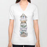 wild things V-neck T-shirts featuring Wild Things by Carley Lee