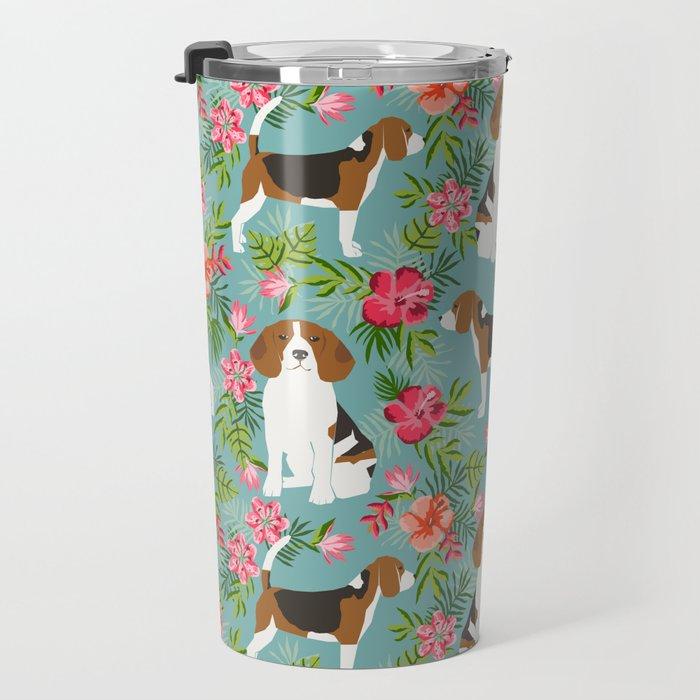 Beagle hawaiian dog pattern tropical pattern cute gifts for dog lover dog breeds Travel Mug