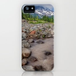 Glacier view iPhone Case