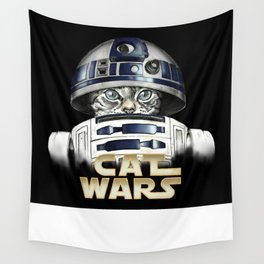 Cat R2 D2 Wall Tapestry