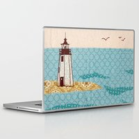 lighthouse Laptop & iPad Skins featuring Lighthouse by Alli Coate