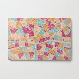 Dublin map, Ireland Metal Print