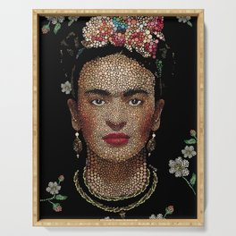 Frida Kahlo dots Serving Tray