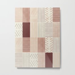 Rustic Tiles 01 #society6 #pattern Metal Print