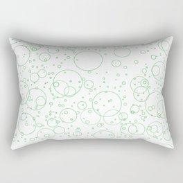 Green Bubbles Rectangular Pillow