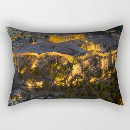Sunset over the Acropolis, Greece Rectangular Pillow