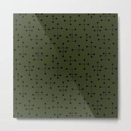 Atomic Era Dots 107 Metal Print