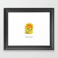 Electric Thunder! Framed Art Print