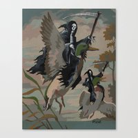 thegnarledbranch Canvas Prints featuring Fowl Deaths by TheGnarledBranch