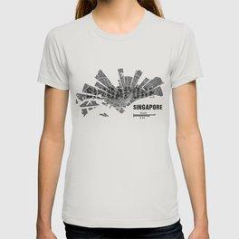 Singapore Map T-shirt