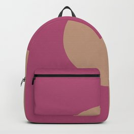 Brown Dark Pink Minimal Half Circle Design 2021 Color of the Year Canyon Dusk & Diva Glam Backpack