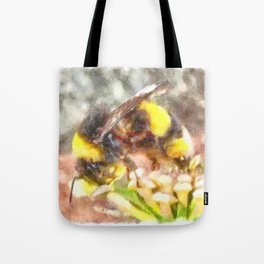 Busy Busy Busy Watercolor Tote Bag
