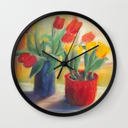 longing for spring - tulip Wall Clock
