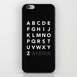 Avenir iPhone Skin