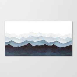 Indigo Mountains Landscape Canvas Print