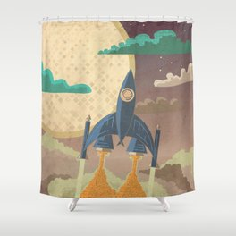 Dream Launch Shower Curtain
