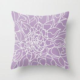 Chrysanthemum Lavender Collection Throw Pillow