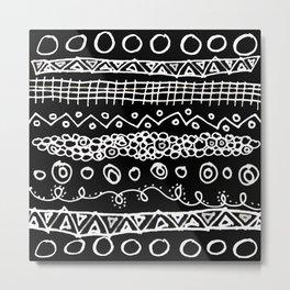 invert scribble Metal Print